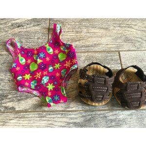 BABW Build a Bear Workshop Swimsuit Sandals Outfit
